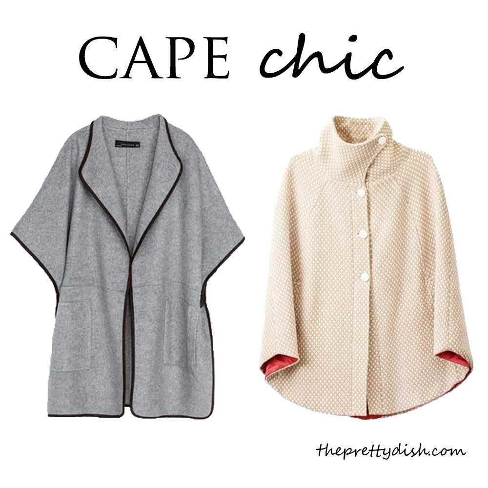chic winter capes at The Pretty Dish