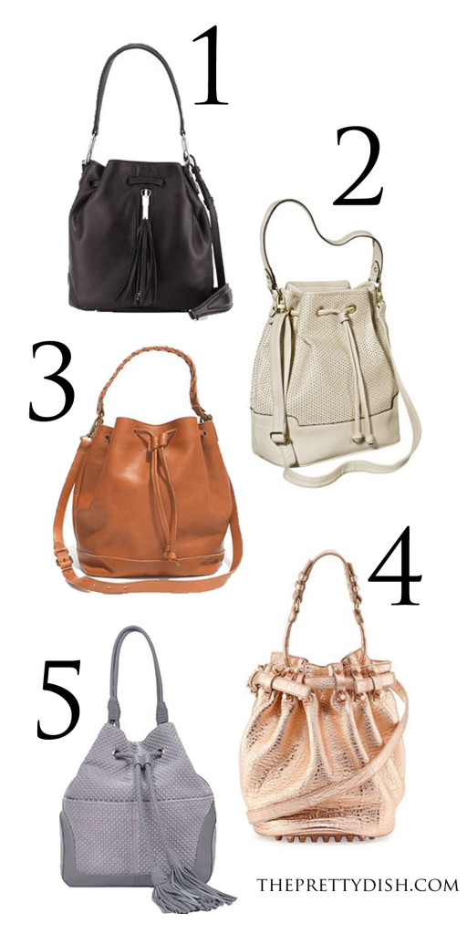 bucket bag collage at The Pretty Dish